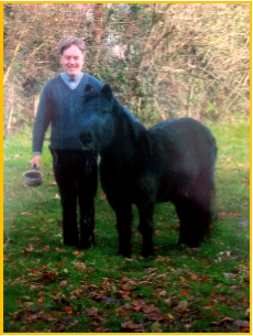Fr Michael Campbell with a pony