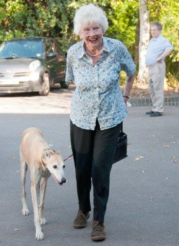 Susan Marshall with a dog